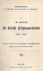 Die steirische Religionspacifikation 1572–1578